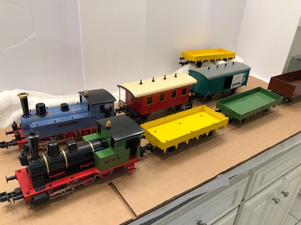 Marklin Maxi Train Set with two Locos and 6 cars Gauge 1 #trains