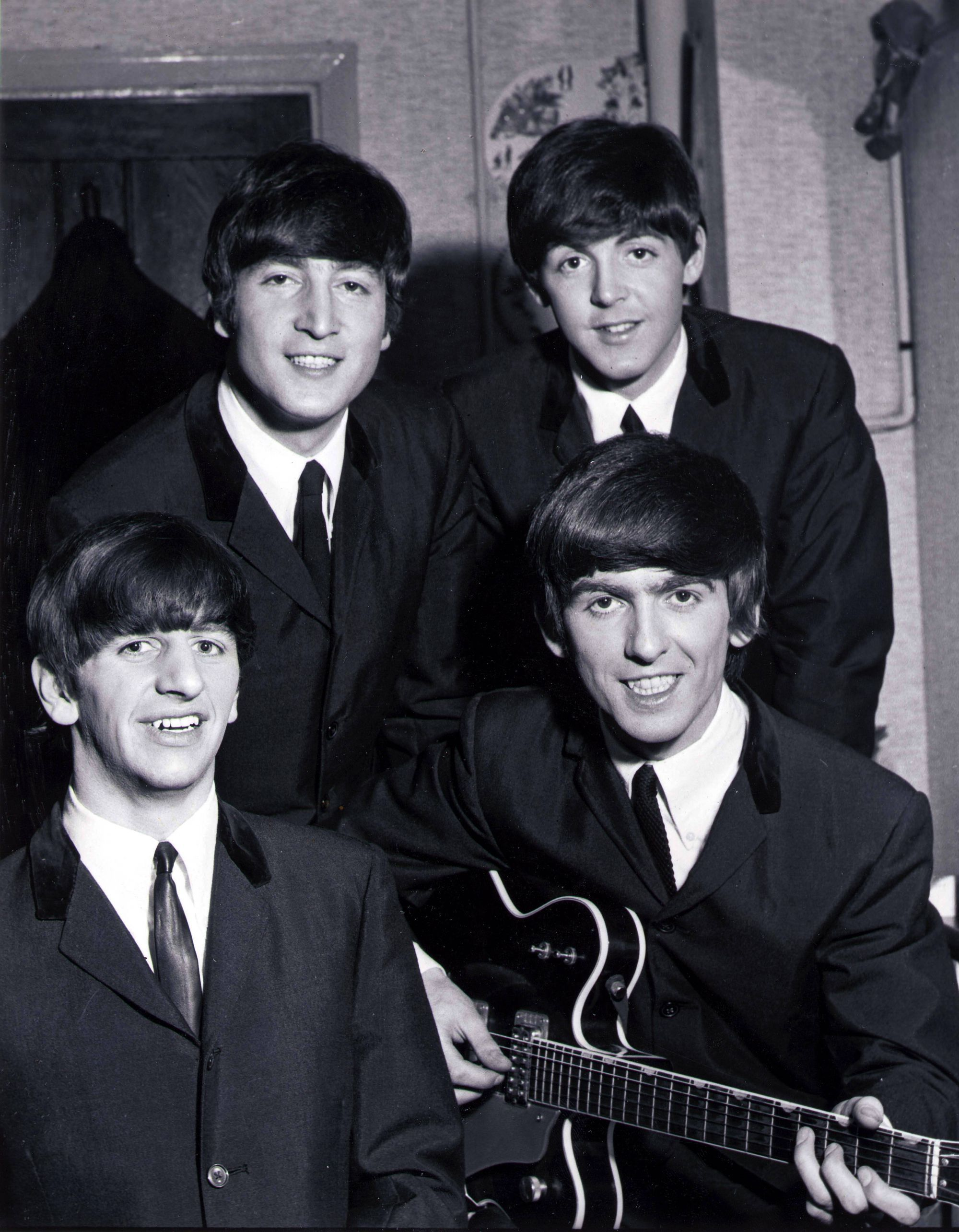 The Beatles Posed Backstage At The Finsbury Park Astoria, London