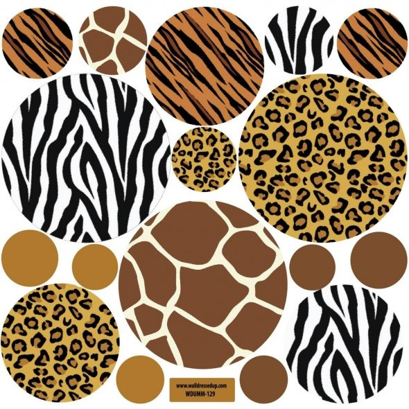 Animal Print Wall Decals Large Dots Repositionable Peel And Stick