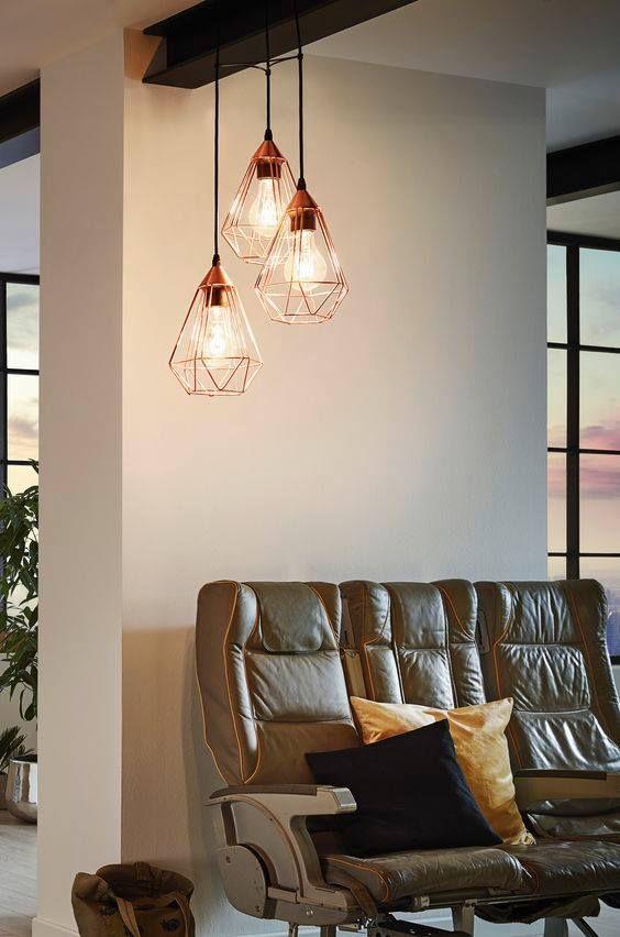 suspension en m tal filaire tarbes eglo e27 diam tre 17 5 cm cuivr luminaires. Black Bedroom Furniture Sets. Home Design Ideas