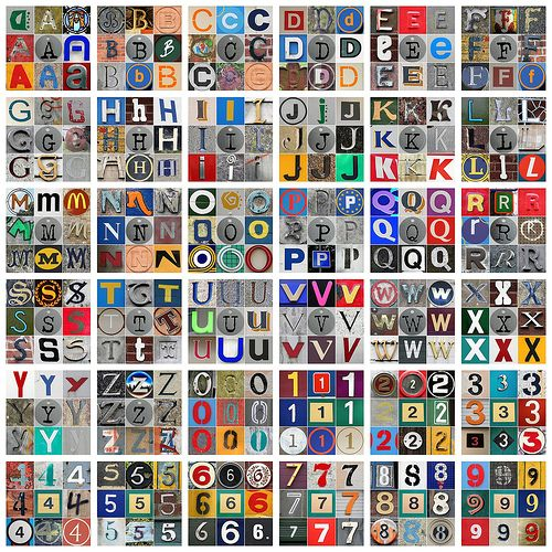 A Ton And A Half Of Those Photo Alphabets Free To Download I Think But Not For Commercial Use Lettering Magazine Letters Mosaic