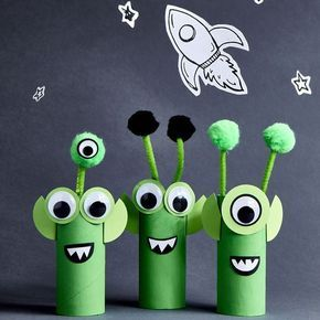 Turn cardboard tubes into friendly aliens. Let your creativity go wild with this project