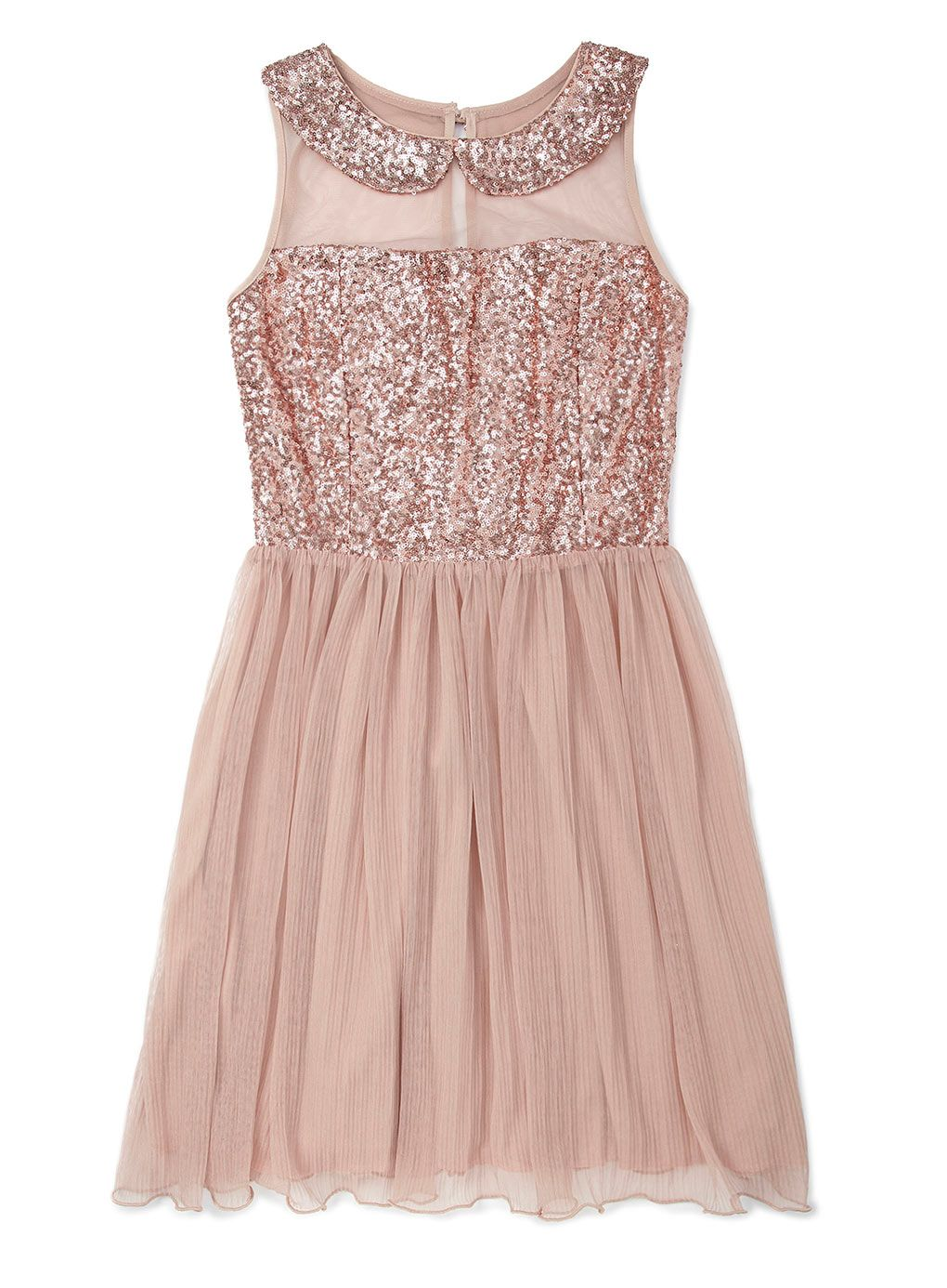 Bronze Sequin Collar and Pleated Skirt - dresses - older girls (8-16 ...
