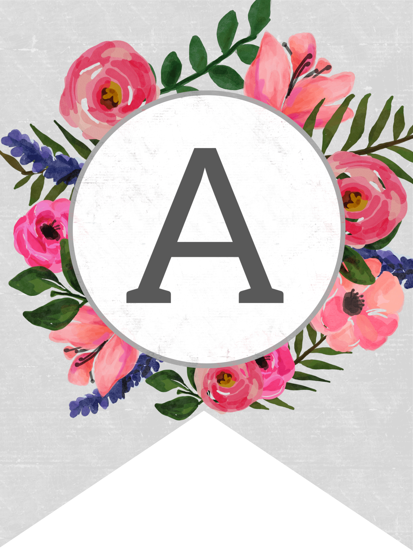 Flowers Birthday Personalized Banner