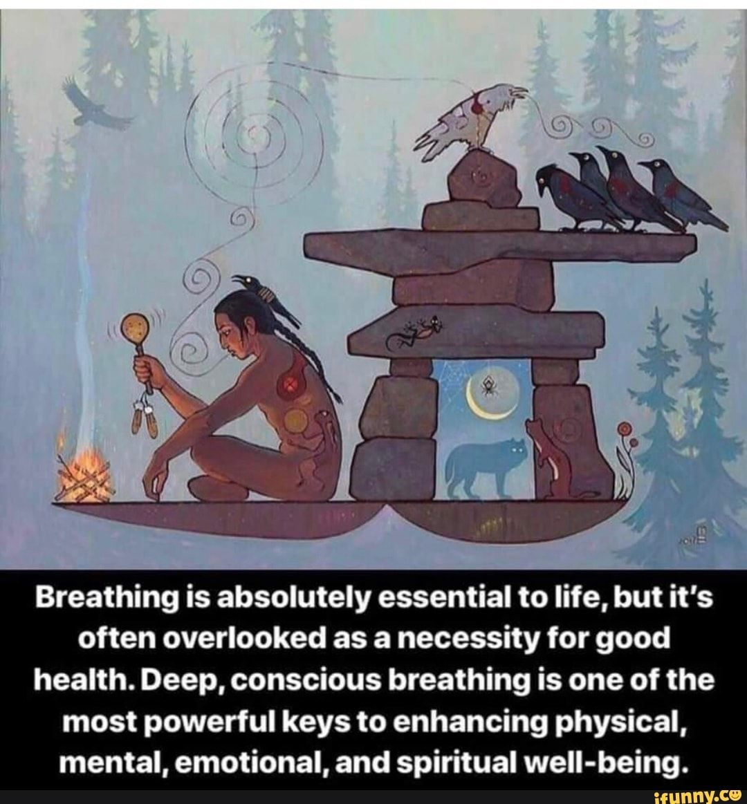 Breathing is absolutely essential to life, but it's often overlooked as a necessity for good health. Deep, conscious breathing is one of the most powerful keys to enhancing physical, mental, emotional, and spiritual weIl-being. - )