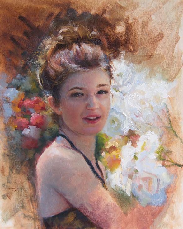ARTFINDER: Katelynn in the Rose Garden by Talya Johnson - Oil ...