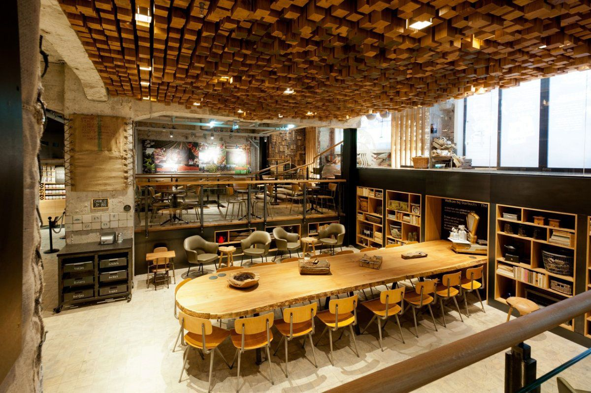 Exclusive Design Big Coffee Shop Place | Interior.Idea | Pinterest ...