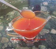 Salsa agridulce thermomix Ingredientes: -75 ml de vinagre (3/4 de cubilete) -100 gr de azúcar -50 gr de kétchup -75 ml de agua fría (3/4 de cubilete) -1 cucharadita de maicena