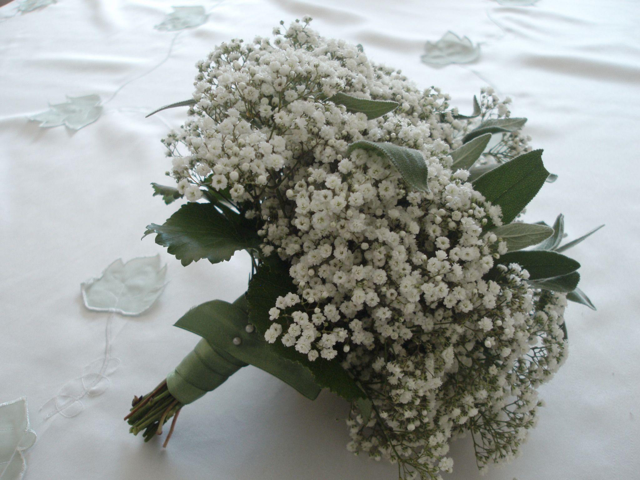 Sage Bouquet Vintage Bouquet Babys Breath Rustic Wedding Bouquet