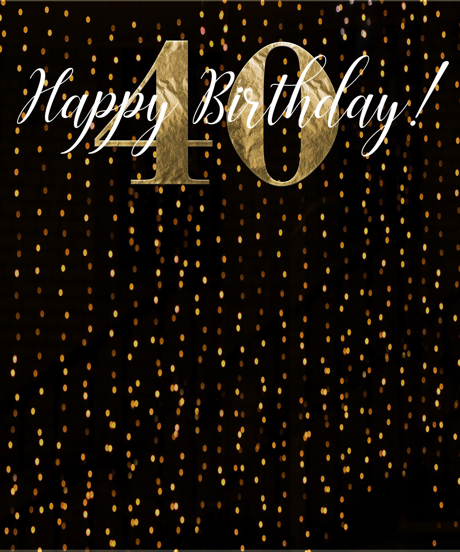 Sale 40th Birthday Photo Backdrop 40 Birthday Photo Booth