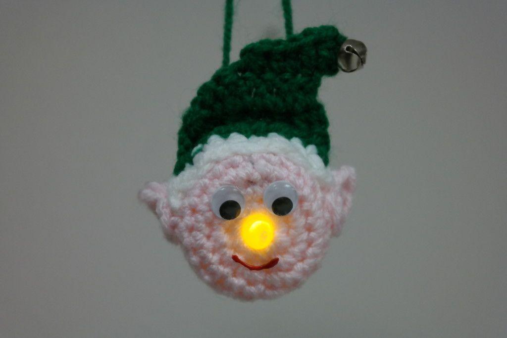 Lighted Elf Ornament - Free Pattern