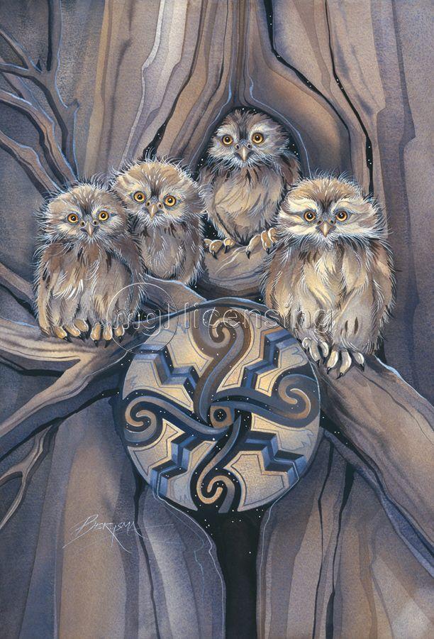 """""""КвикДекор"""" - авторская картина """"Амулет маленькой совы ..."""