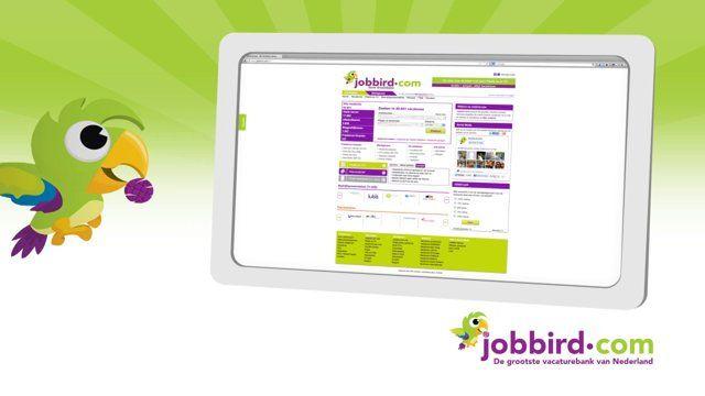 Jobbird.com biedt je het grootste vacature aanbod van Nederland. Je kunt daar dagelijks de meest recente vacatures vinden en deze vacatures simpel laten toesturen via je e-mail. ZIGT Studio is gevraagd om een 10 seconden commercial te maken op basis van een reeds bestaande radiocommercial.