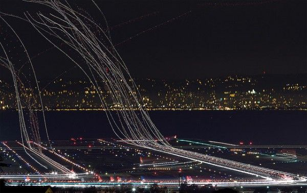 Long Exposure Air Traffic