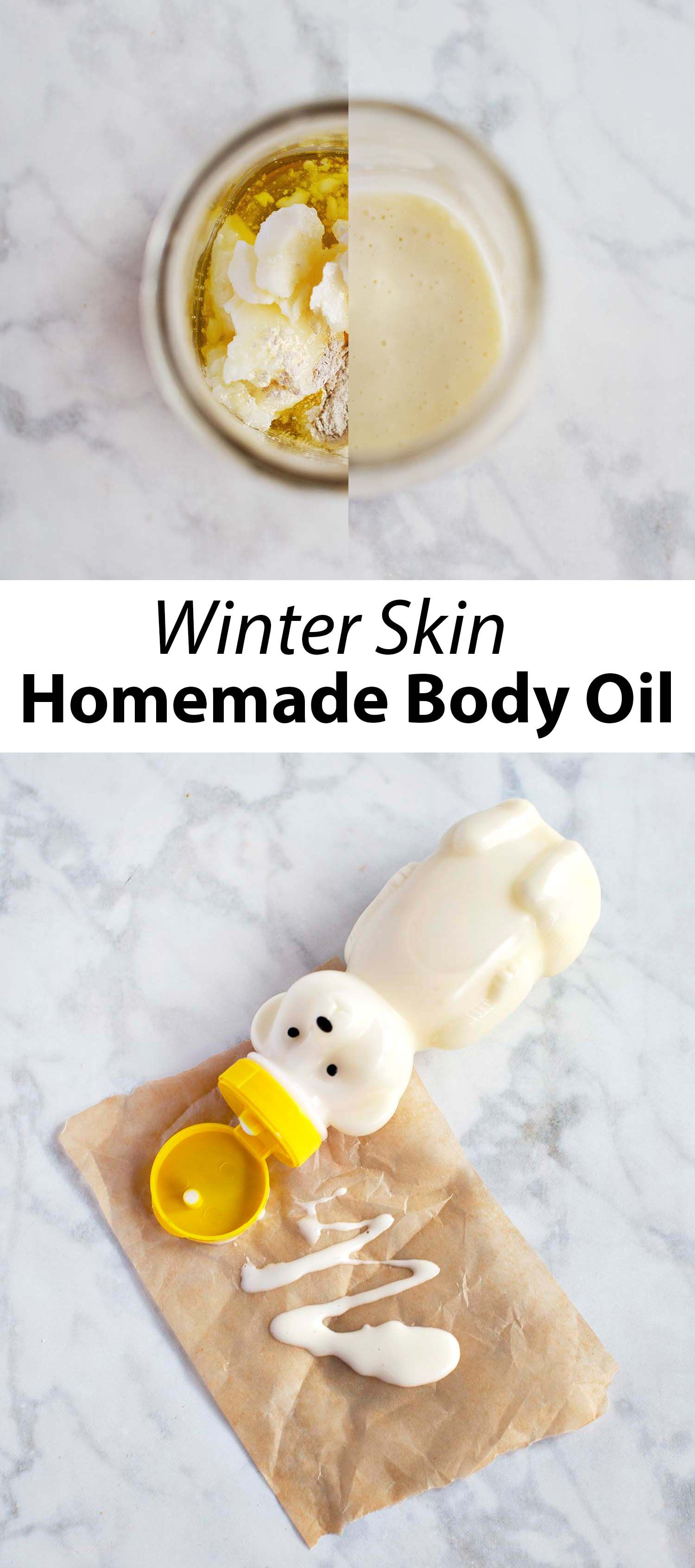 Winter Skin Homemade Body Oil #skincare