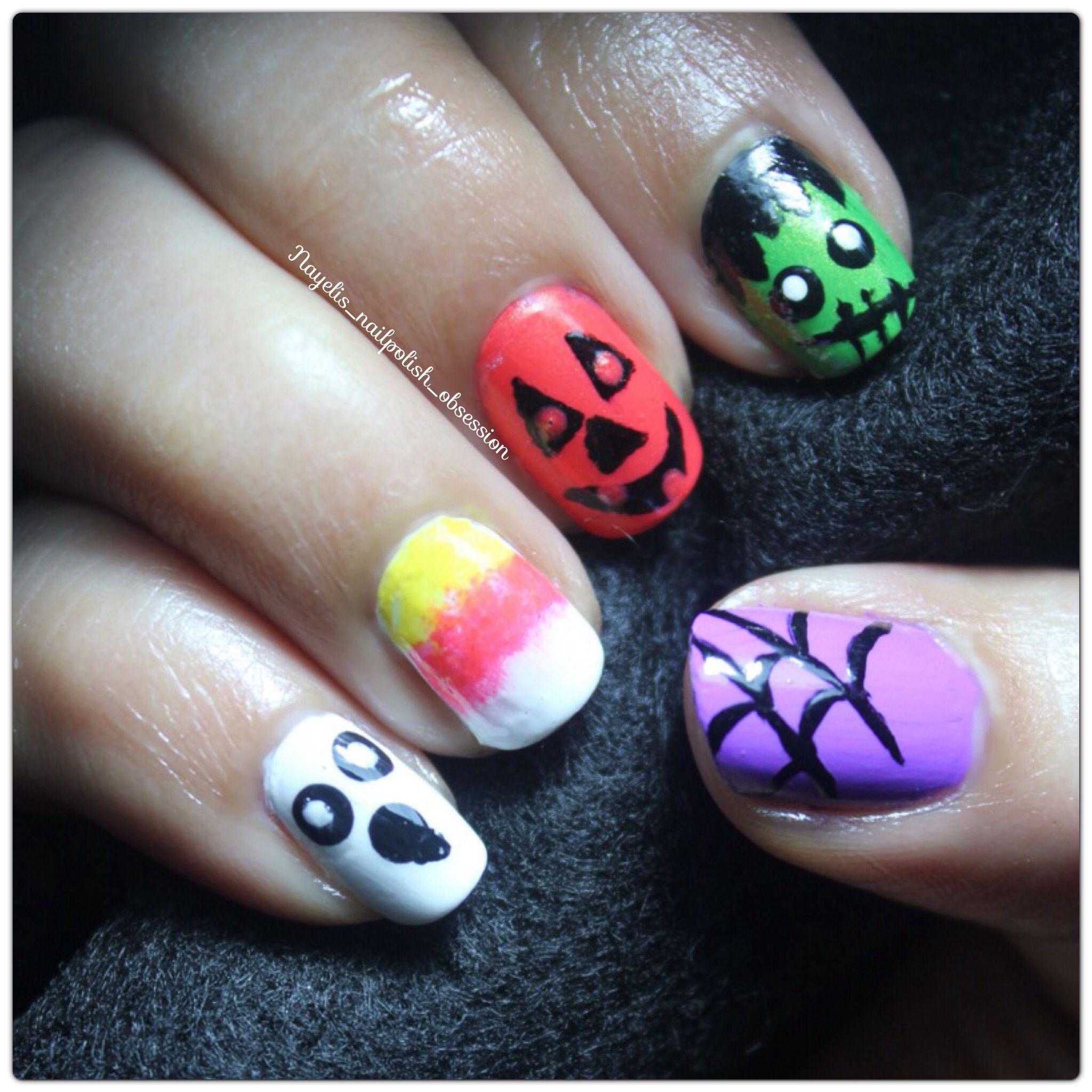 halloween nail art recreation from cutepolish | nail art and nail
