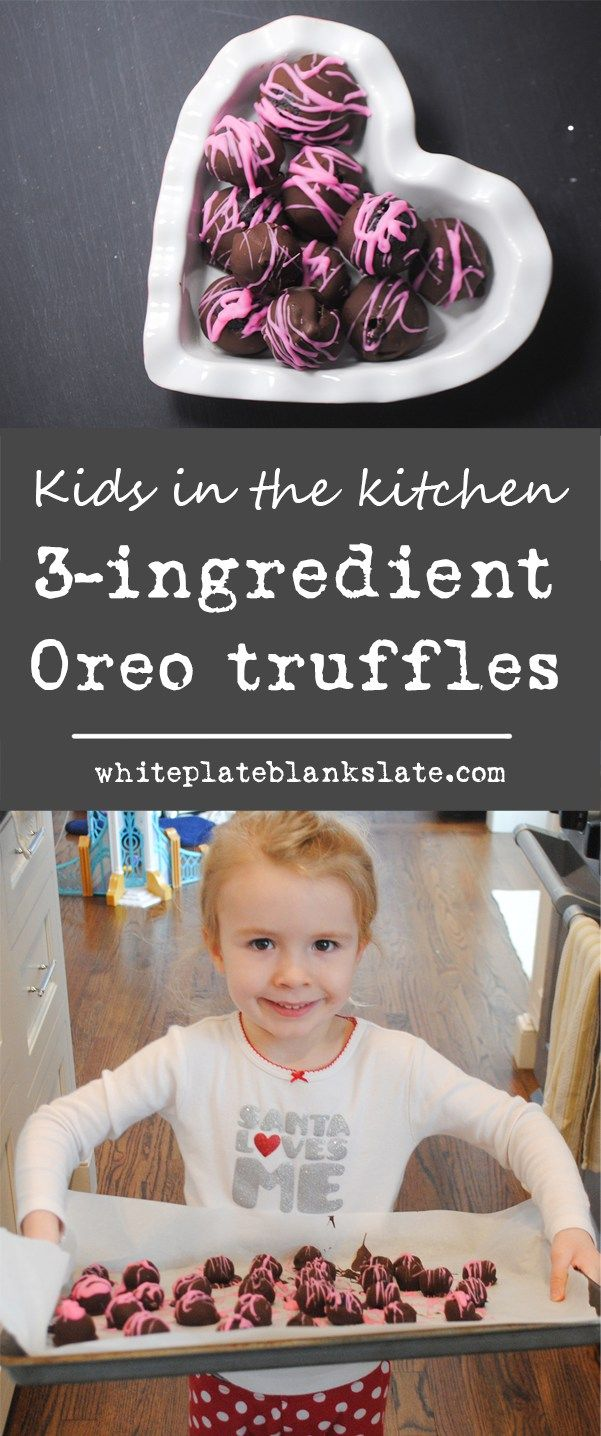 Easy 3-ingredient Oreo truffles are yummy and great to make with kids!