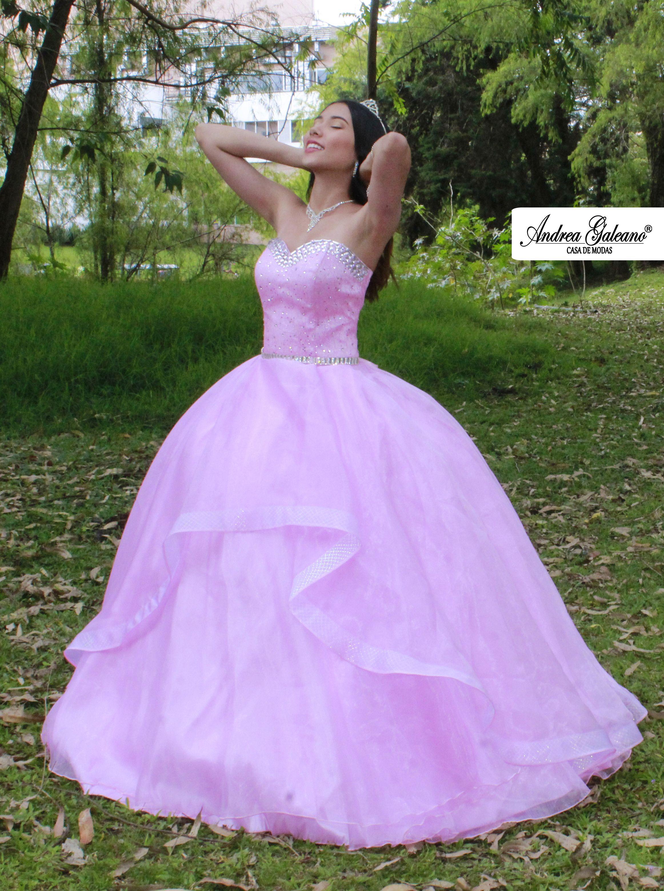 62ac9c3800 Hermoso vestido para quinceañera rosado
