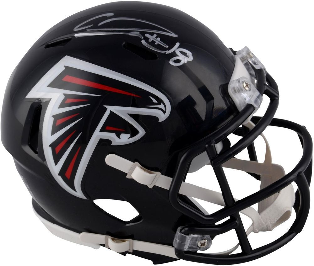 Calvin Ridley Atlanta Falcons Autographed Riddell Speed Mini Helmet Atlanta Falcons Signs Football Helmets Football Helmets For Sale