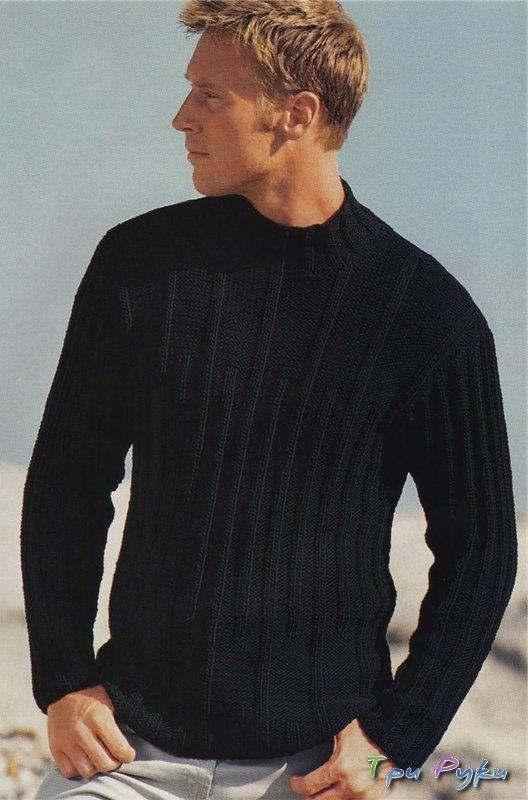 Картинки по запросу свитер мужской спицами   Мужской ...