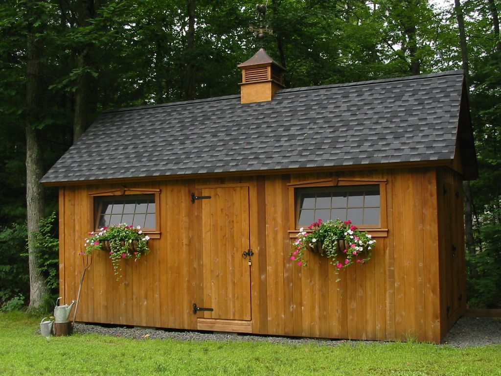 Cedar colonial 10 x 20 plan windows and flowers barn for Colonial shed plans