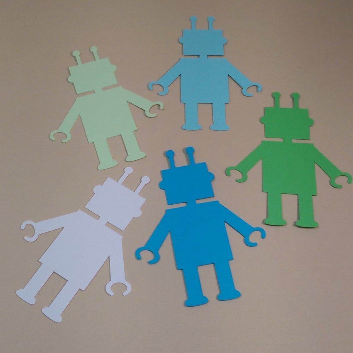 40 Robots (3 inches tall), Scrapbooking, Card Making, Create Banners, Enhance Gift Wrapping, Birthday Party Decoration