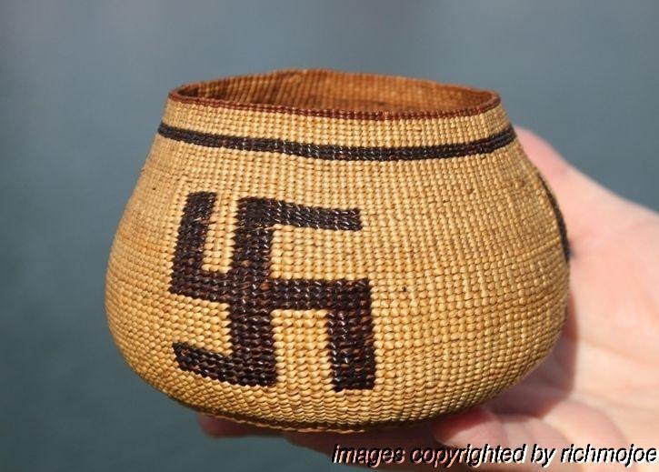 8787e5b8336 Very Fine Old Northern California HUPA Yurok Karok Indian Basket C1900