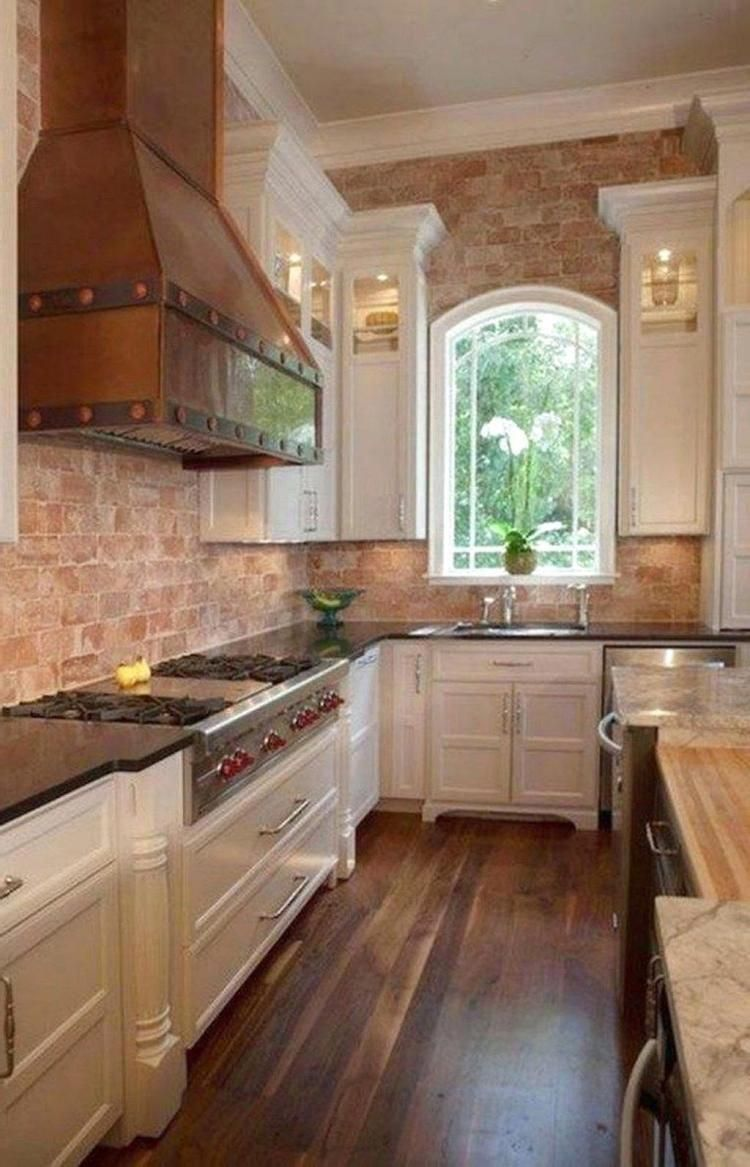 wonderful kitchens design ideas with a brick wall