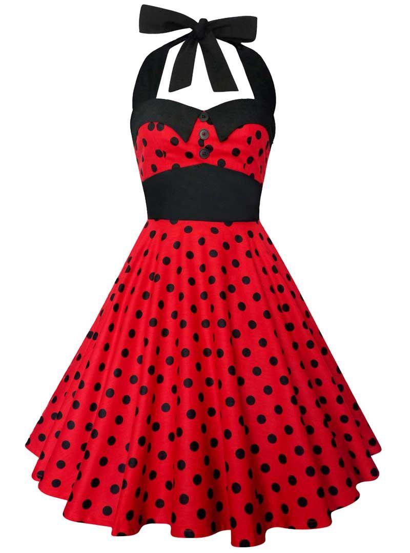 Hearts /& Roses Kids vintage années 1950 Black Red Cherry Fête Filles Bal Swing Robe