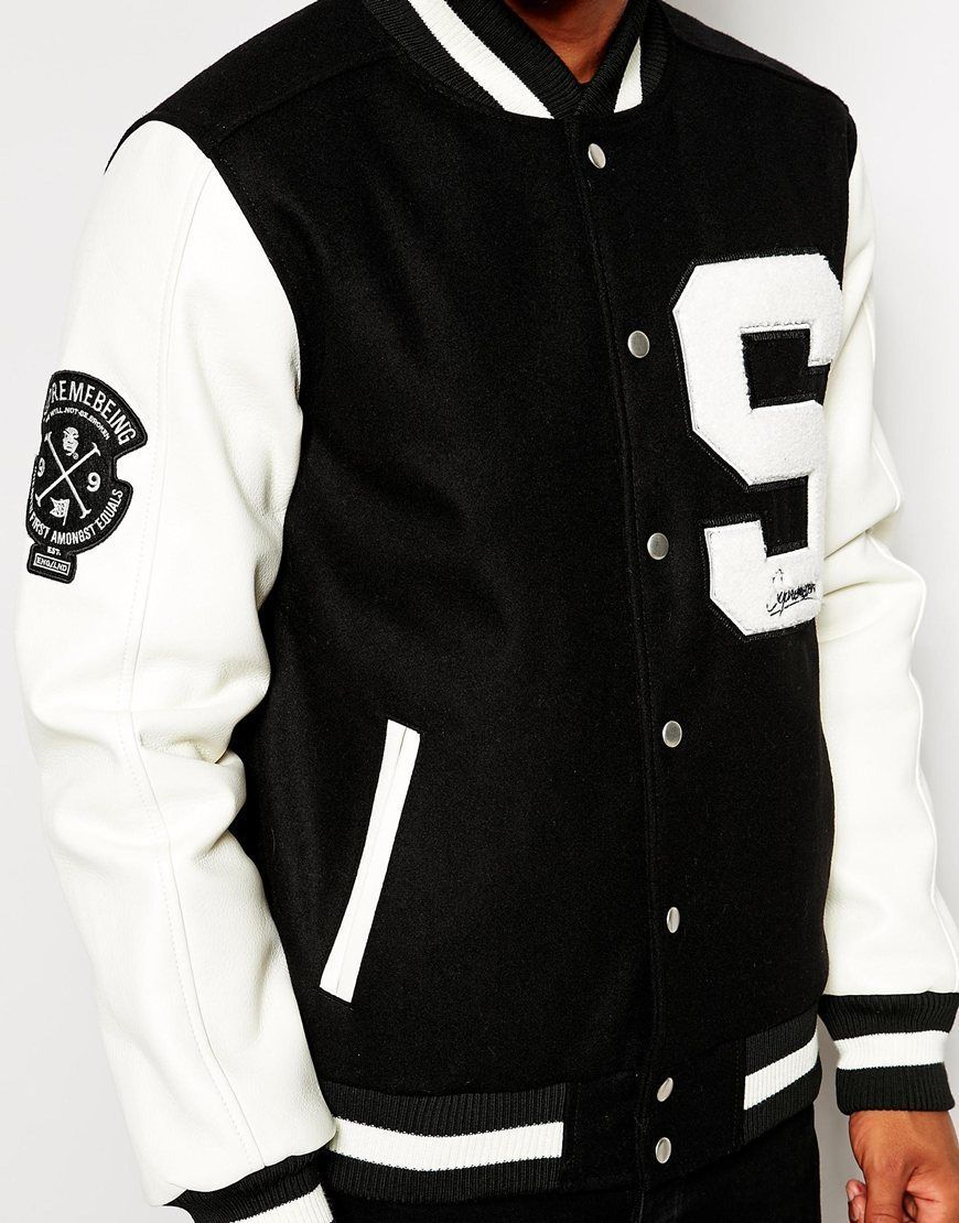 New Unisex High School Lettermans Sport Jacket Wool Faux Leather Supreme Being Varsity Jacket Jackets Sports Jacket [ 1110 x 870 Pixel ]