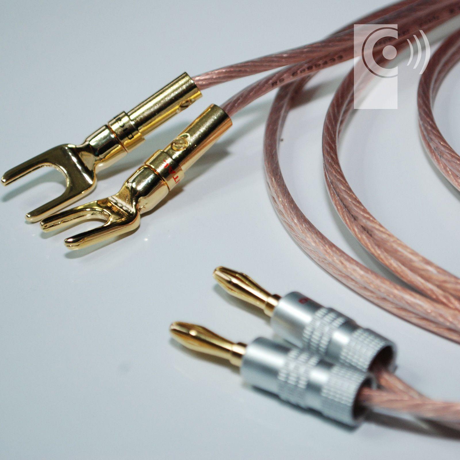 Hi-Fi 4mm Banana Plugs (2x) Speaker / Amplifier connectors (BP102 ...