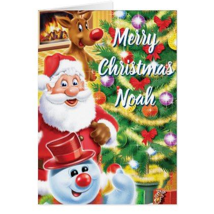 Santa And Friends Christmas Card Zazzle Com With Images