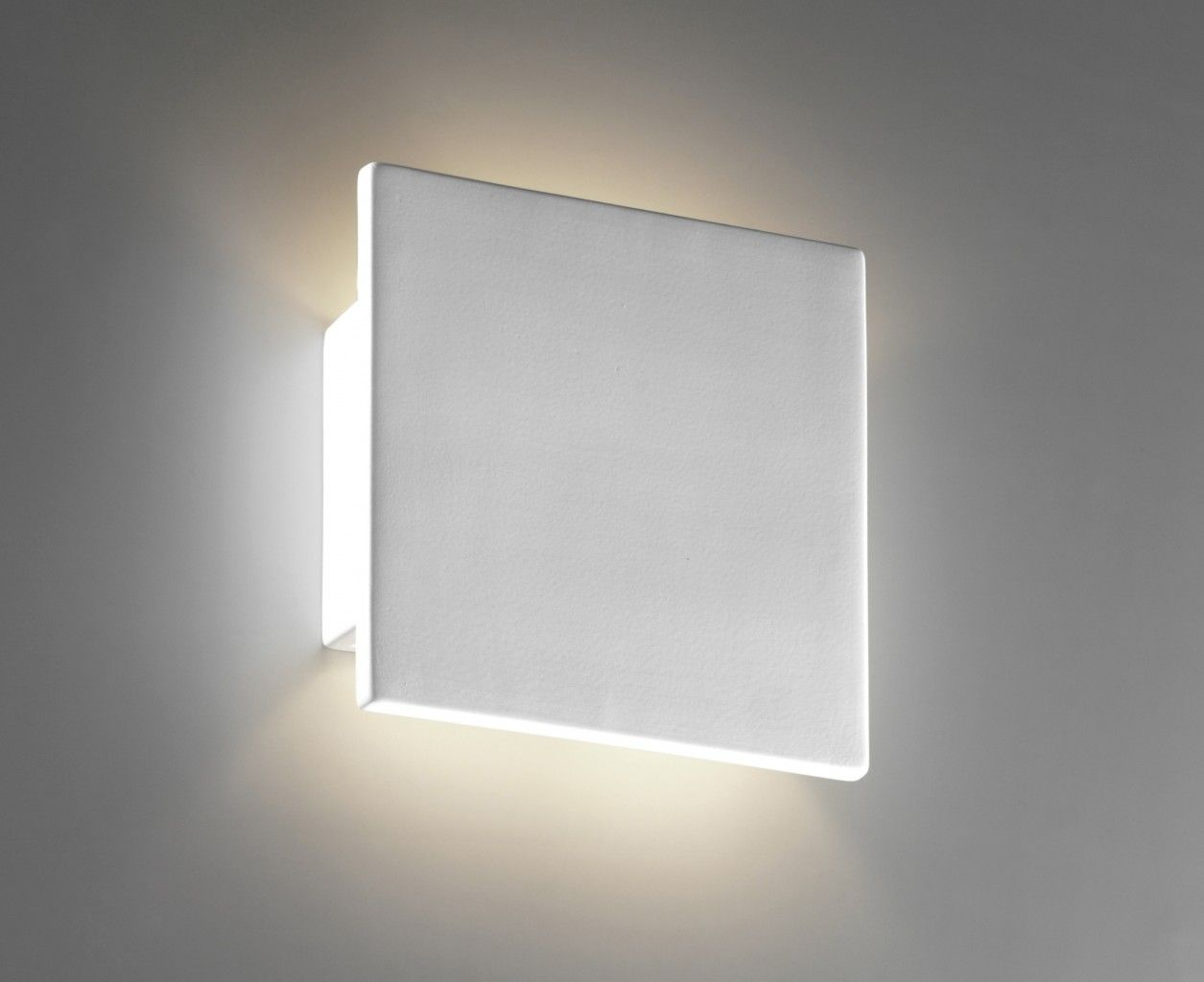 Applique in gesso a scomparsa illumiplast faretto quadrato