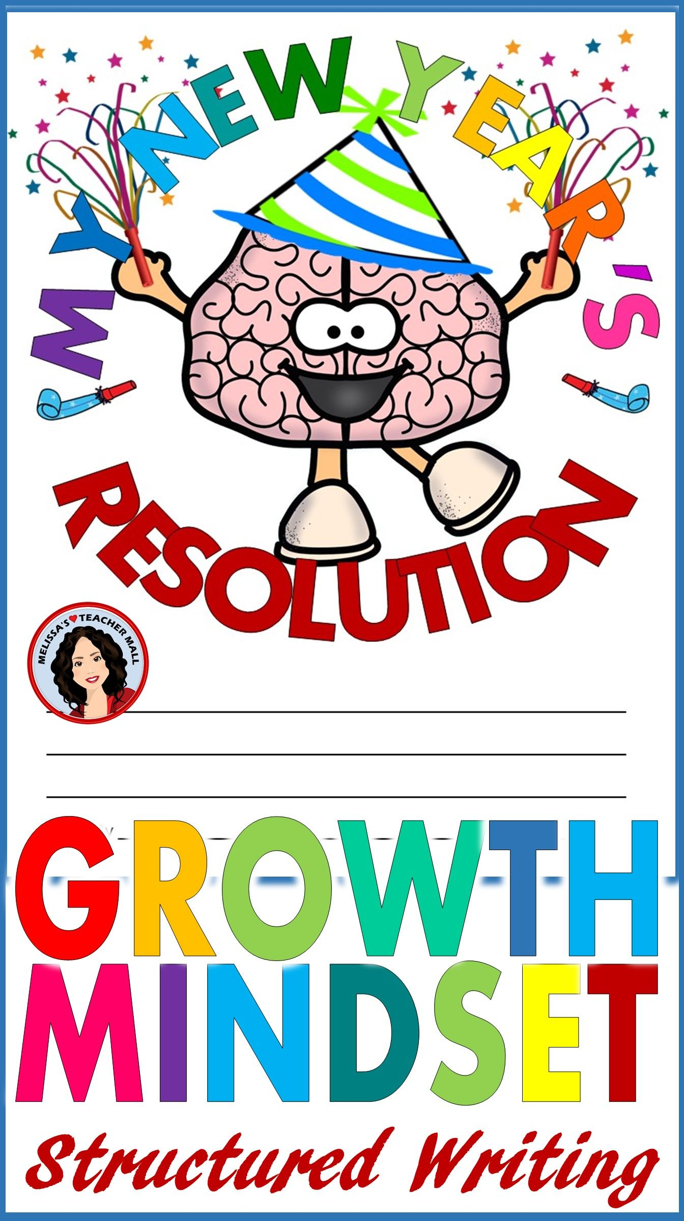 New Years Resolution Activity 2020 Using Growth Mindset