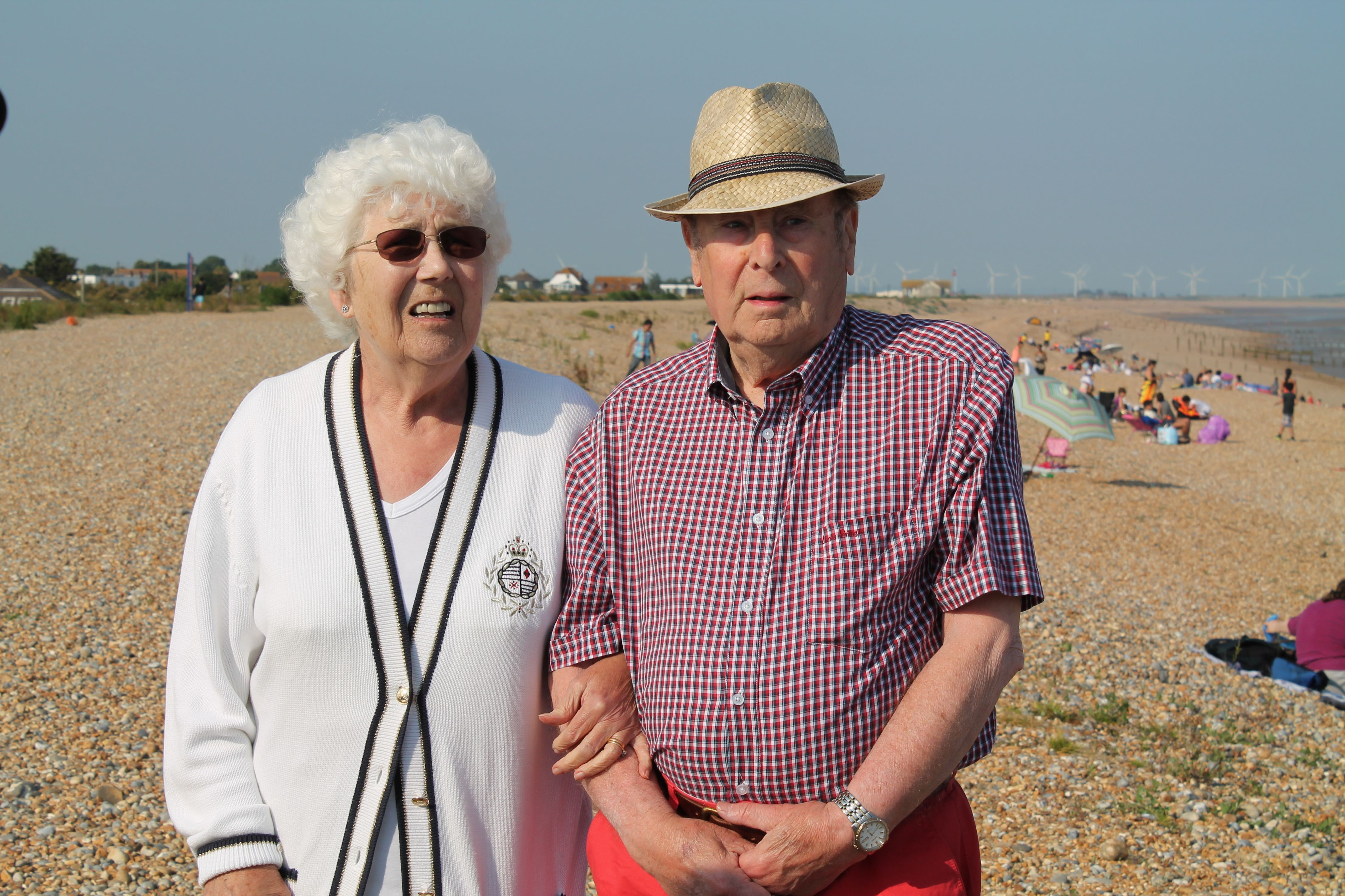 Bill and Betty. Parents of Steve Morris, grandparents of Harriet and Felicity