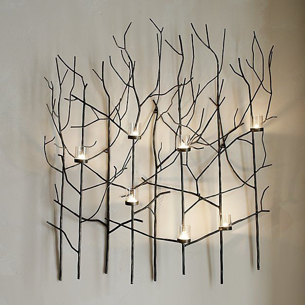 Twiggy Metal Wall Candle Holder   My Sanctuary   Pinterest   Wall ...