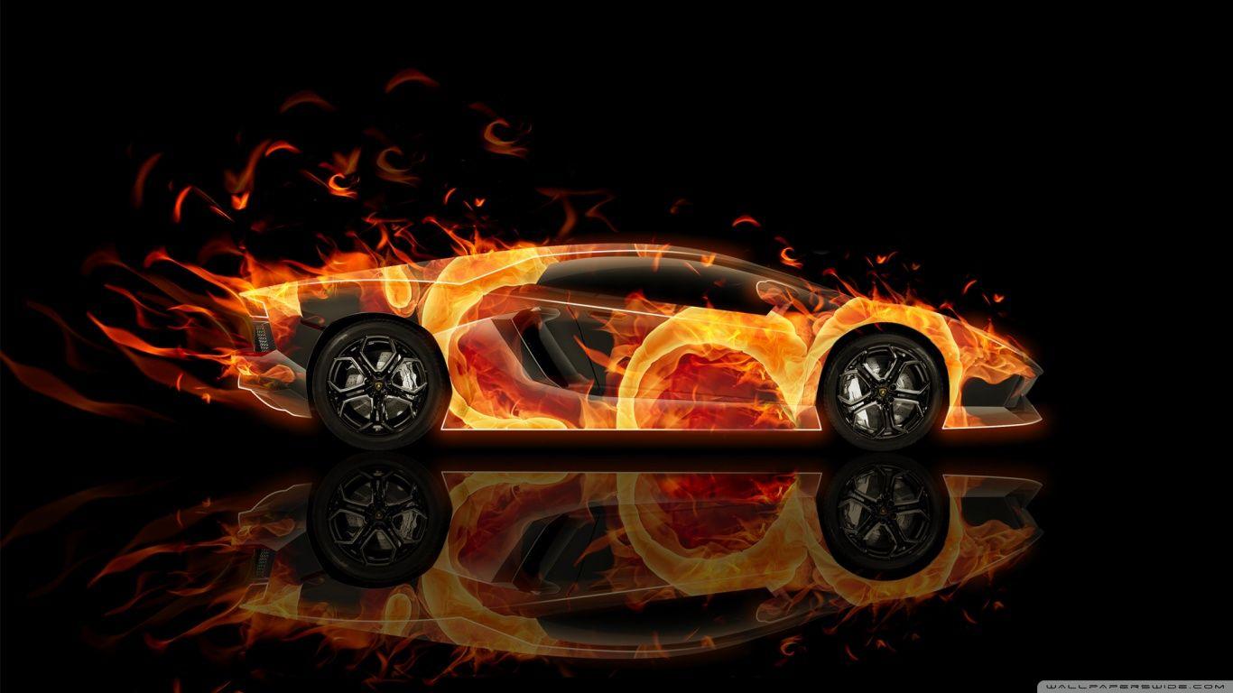 Lamborghini Aventador · Fire Car   Lamborghini Aventador