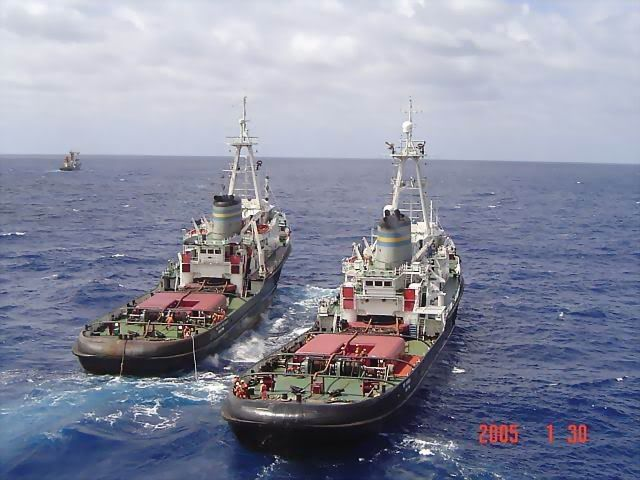 Perhaps the two finest Ocean Going Salvage Tugs ever built ...