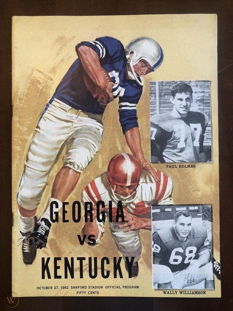 1962 vs Kentucky Football Program October 27