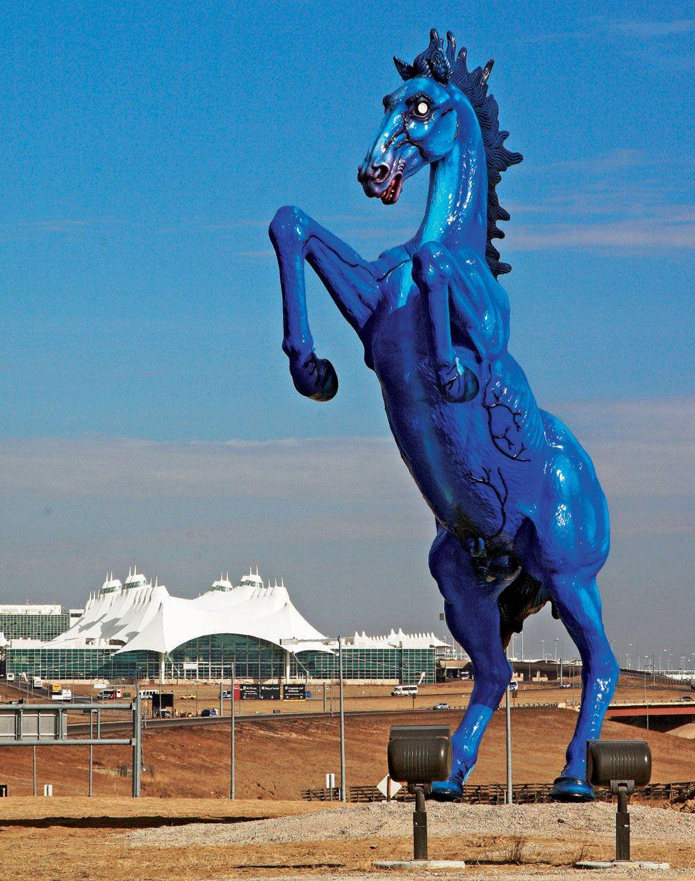 Blue Mustang at Denver Airport: http://en.wikipedia.org/wiki ...
