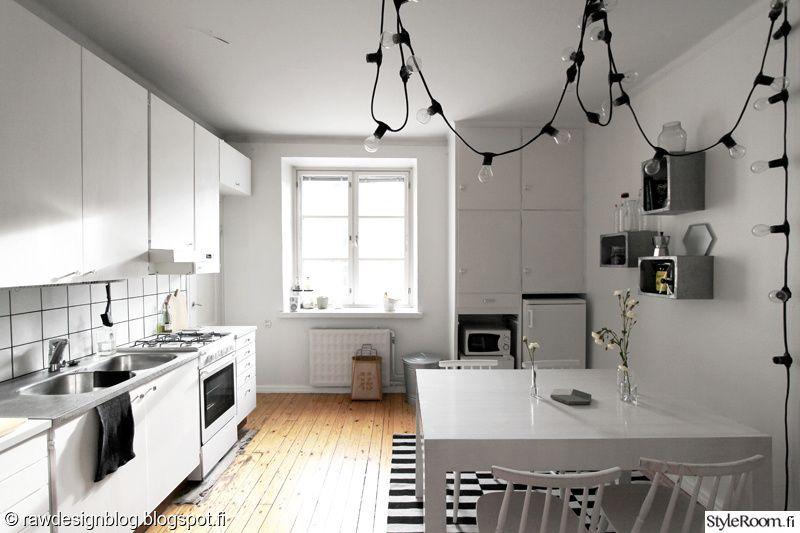 keittiö,valkoinen,mustavalkoinen,granit