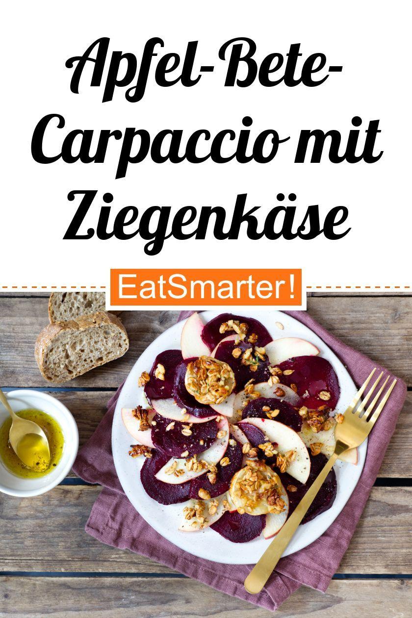 Apfel-Bete-Carpaccio mit Ziegenkäse und Honig-Dinkel ...