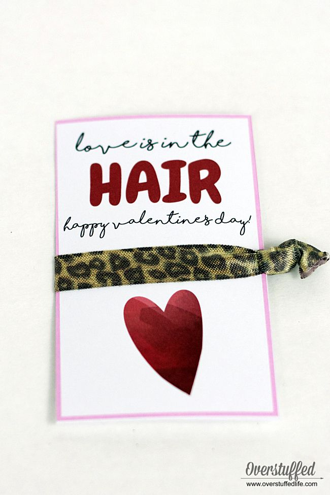 Love Is In The Hair Valentine Free Printable Valentines Day