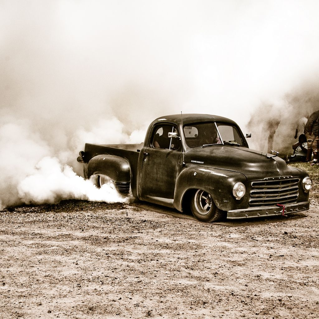 Chevy Rat Rod Truck Burnout With Images Classic Cars Trucks