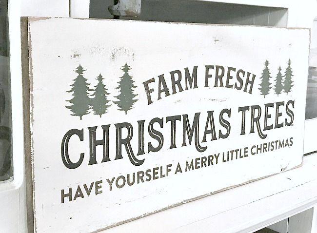 Fresh Cut Christmas Trees Sign.Farm Fresh Rustic Christmas Tree Sign Bloggers Best Diy
