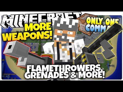 Minecraft | MORE WEAPONS | Machine Gun, Flamethrower, & More