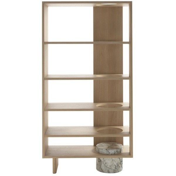 oak and marble bookshelf 6 565 cad liked on polyvore featuring rh pinterest co kr