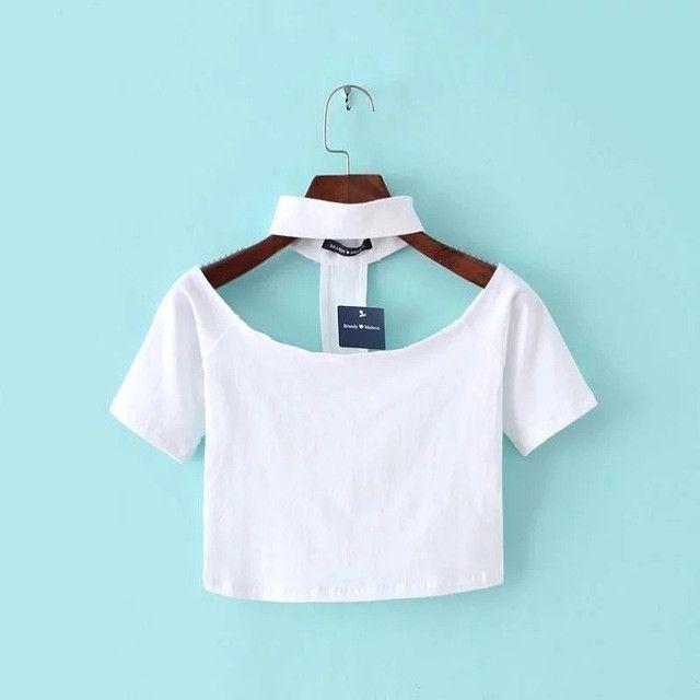 589a4f8226d American apparel women slash neck off shoulder cotton slit neckline choker  neckline long-sleeve Choker AA classic crop Top