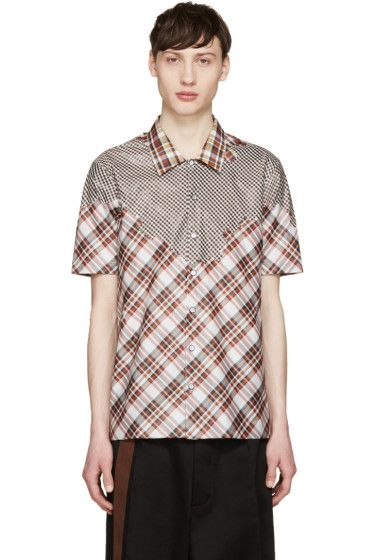 Raf Simons - Red & White Plaid Shirt