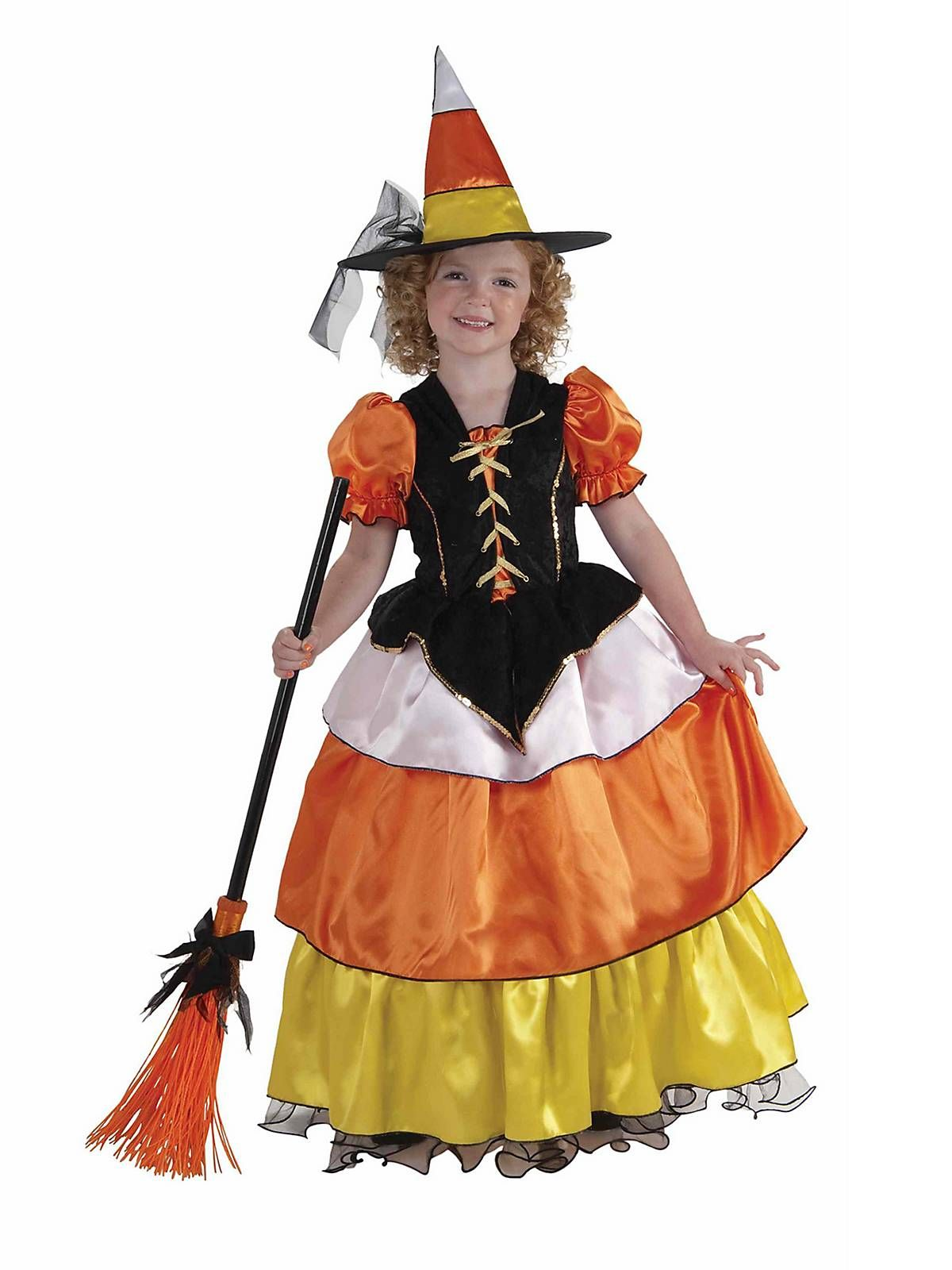 Child Candy Corn Witch Costume | Witch costumes, Candy corn and ...